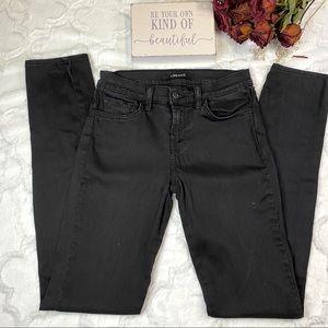 J Brand Midrise Black Skinny Jean Size 26